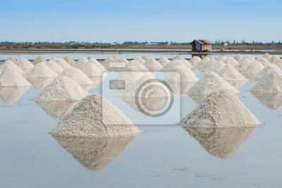 Sterta soli morskiej soli w gospodarstwie, Tajlandia
