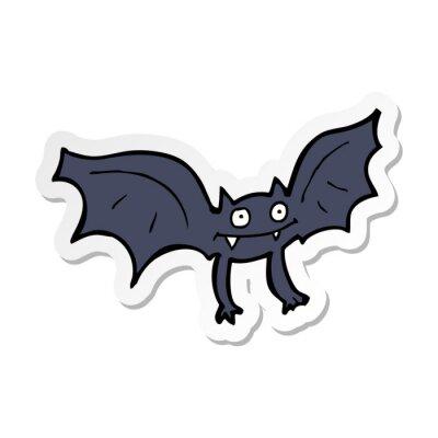 Obraz sticker of a cartoon vampire bat