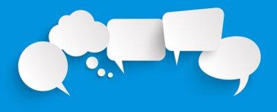 Obraz sticker speech bubbles with shadow