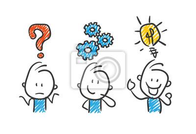 Obraz Stickman Blue: Business, Idea, Success. (Nr. 29)