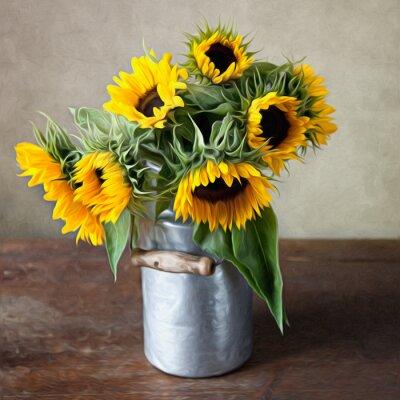 Obraz Stilleben mit Sonnenblumen