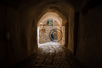 Obraz stone street in the old city of Israel