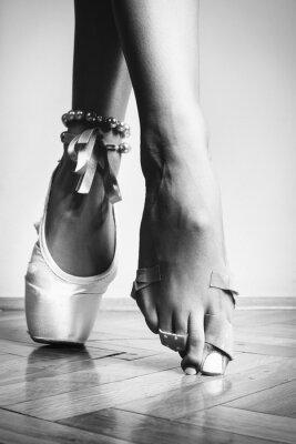 Obraz Stopy taniec baleriny