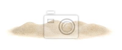 Obraz Stos piasku na białym tle.
