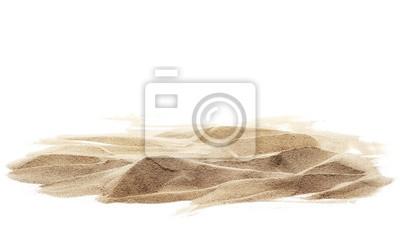 Obraz stos piasku na białym tle