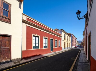 Street in San Cristobal de La Laguna (known as La Laguna), its historical center was declared a World Heritage Site by UNESCO in 1999, Tenerife, Spain.