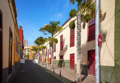 Street in Santa Cruz old town, Tenerife, Spain.