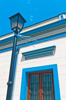 Streetlamp on Zelaya street at Abasto tango  neighborhood in Buenos Aires