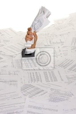 Stres przez biurokrację i składanie papieru