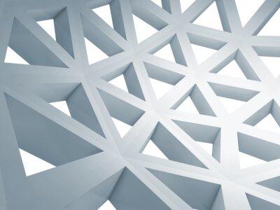 Obraz Streszczenie 3d tle z drutu niebieski trójkąt budowy