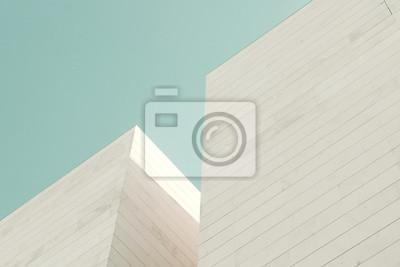 Obraz Streszczenie architektury. Fragment elewacji budynku wykonane z bloków kamiennych
