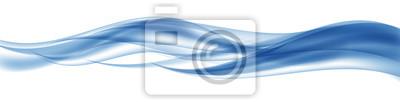 Obraz Streszczenie Blue Wave ustawiona na przezroczystym tle. illust wektor