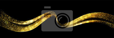Obraz Streszczenie błyszczący kolor złota fala element projektu