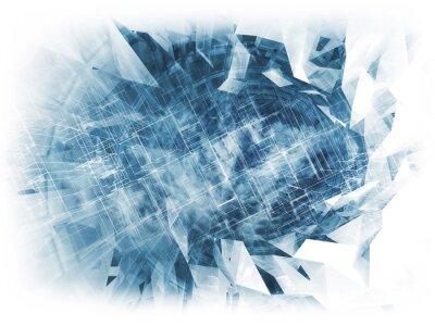 Obraz Streszczenie cyfrowych tle, cloud computing 3d
