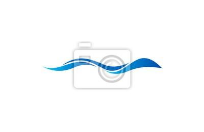 Obraz streszczenie fali wektor logo