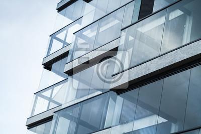 Obraz Streszczenie Fragment nowoczesnej architektury, niebieski tonowe