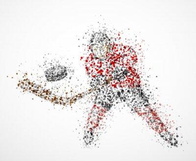 Obraz Streszczenie hokeista