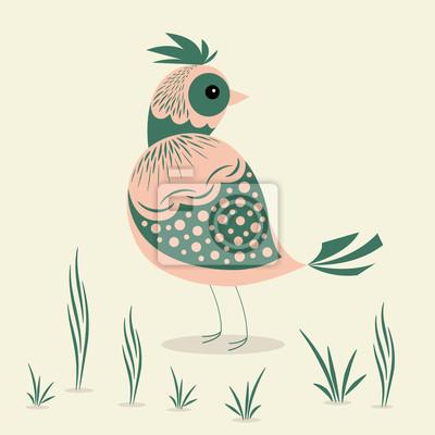 Streszczenie ilustracji ptaka projektowania.