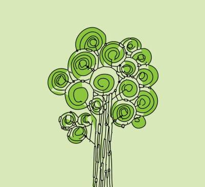 Obraz Streszczenie ilustracji wektorowych w drzewo