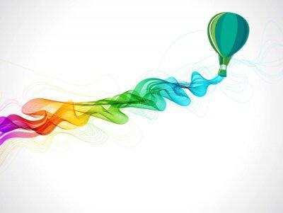 Obraz Streszczenie kolor tła z balonem