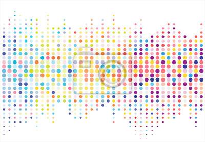 Obraz Streszczenie kolorowe halftone tekstury kropek wzorca. wektor