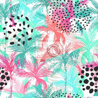 Streszczenie kolorowe palmy wzór.