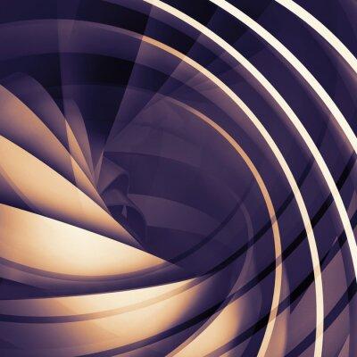 Obraz Streszczenie kwadratowych ciemne tła cyfrowe, 3d spiral