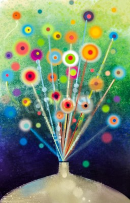 Obraz Streszczenie kwiatów akwarela.