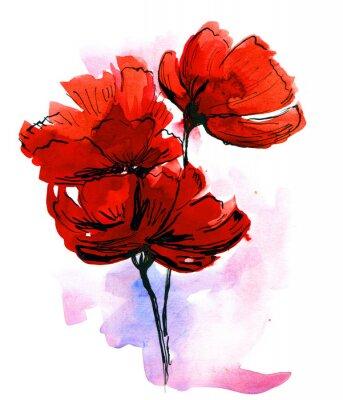 Obraz Streszczenie malowane tła kwiatu
