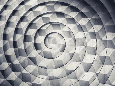 Obraz Streszczenie monochromatyczne tło z spirala