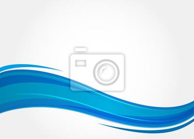 Obraz Streszczenie niebieskim tle z falami