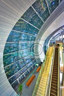Streszczenie okna w lotniska w Dubaju