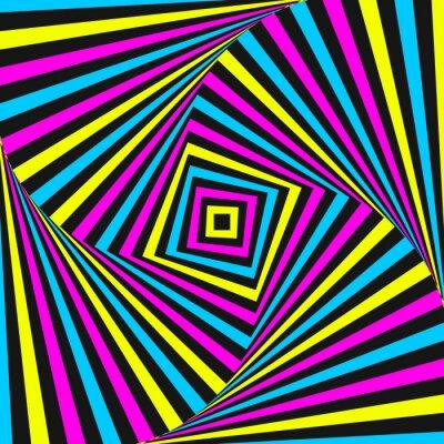 Obraz Streszczenie optyka iluzja - kolorowe tło. koncepcja CMYK