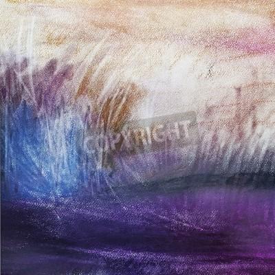 Obraz streszczenie pastel na papierze krajobrazu, sztuka, impresjonizmu