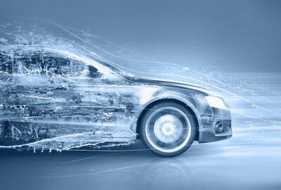 Obraz streszczenie samochód