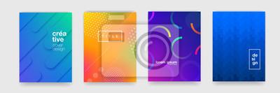Obraz Streszczenie tekstura tło wzór modny płynący gradient geometryczny na projekt okładki plakatu. Szablon transparentu koloru minimalnego. Nowoczesny kształt fali wektorowej dla brichure