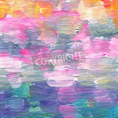 Obraz Streszczenie teksturowane akrylowe Akwarele ręcznie malowane tła stylu impresjonizm