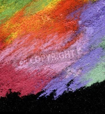 Obraz Streszczenie teksturowane akrylowe pastel olejny ręcznie malowane tła stylu impresjonizm