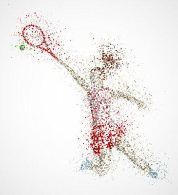 Obraz Streszczenie tenisista