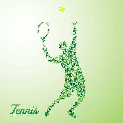 Obraz Streszczenie tenisista kopanie piłki