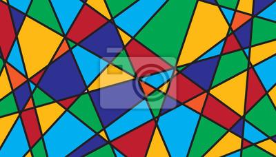 Obraz Streszczenie tło Witraż geometryczny
