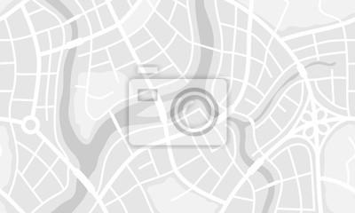 Obraz Streszczenie transparent mapę miasta.