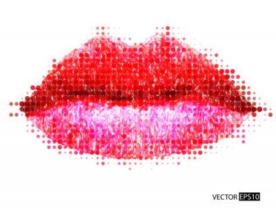 Obraz Streszczenie wektora womans usta.