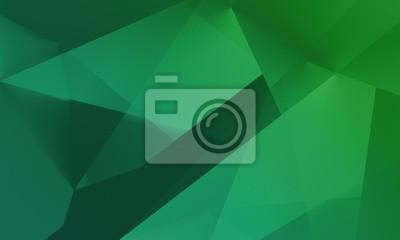 Obraz Streszczenie zielonym tle wielokątny