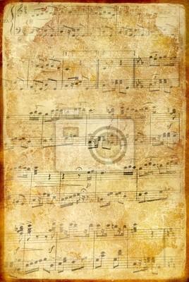 Strona muzyczna w stylu vintage