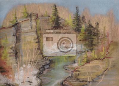Obraz Strumień w górach