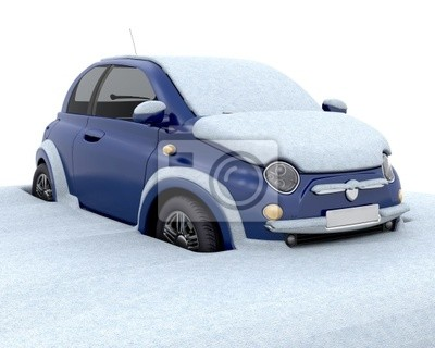 Obraz Stuck w śniegu
