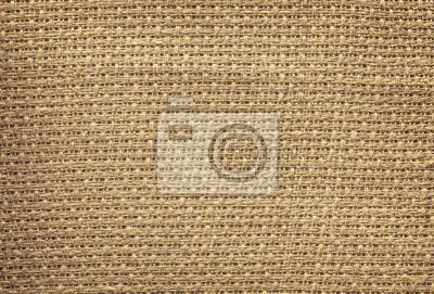Styl retro zdjęcie naturalnej tkaniny lnianej.