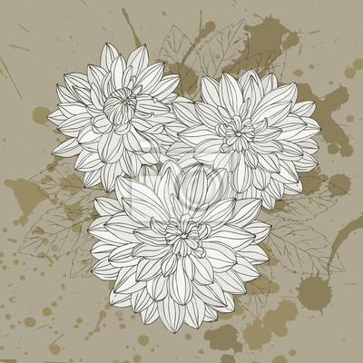 Stylizowane kwiatowy karta może być stosowany do zaproszenia, kartki okolicznościowe