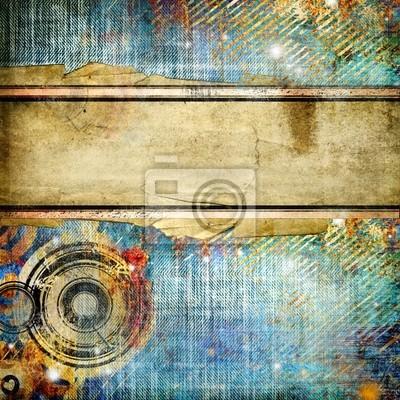 stylowe zabytkowe abstrakcją denim tekstury